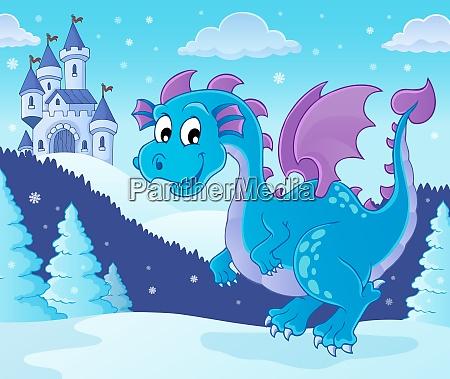 winter dragon theme image 1