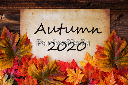 old paper with text autumn 2020