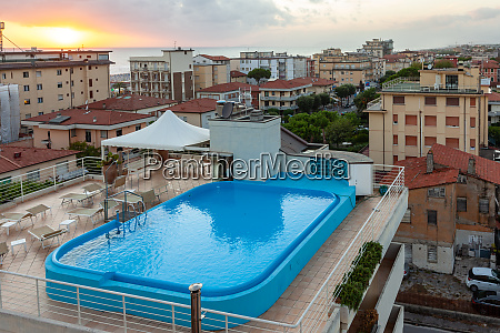 hotel rooftop swimming pool in lido