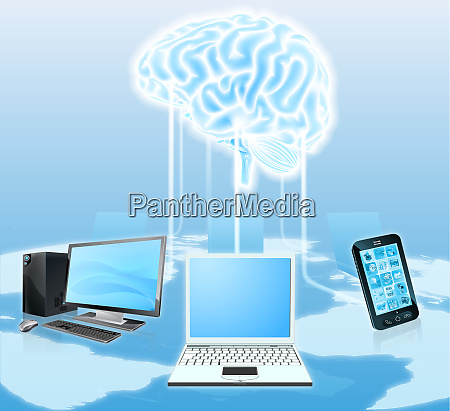 devices connected to central brain