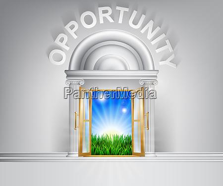 door to opportunity concept
