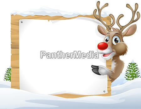 christmas reindeer sign