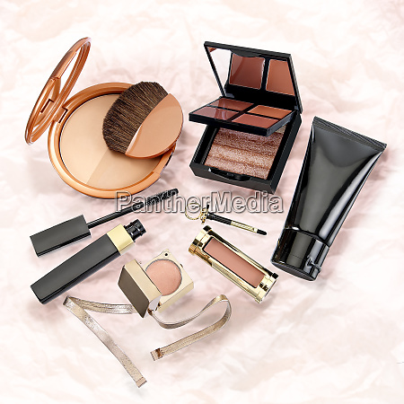 colorful make up set
