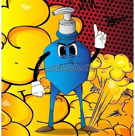 bottle, of, hand, sanitizer, gel, with - 28501656