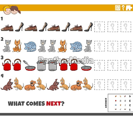 educational pattern game for kids with