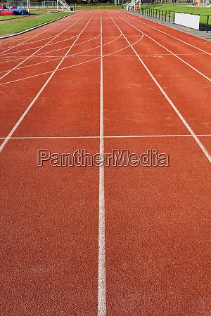 athletics track on the public stadium