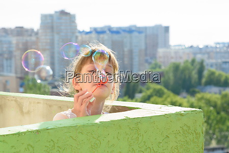 a child is having fun on