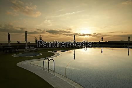 swimmingpool in oman island of masirah