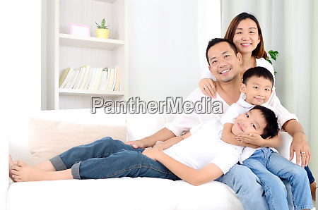 asian family stay at home