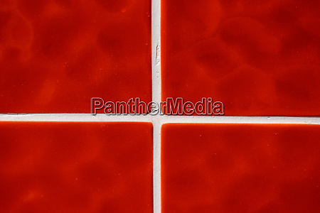 contemporary red tile glossy mosaic earthenware