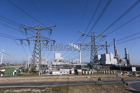 high voltage power lines electricity distribution
