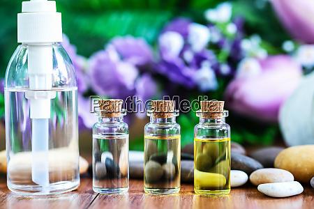 bottle essential oil for spa massage