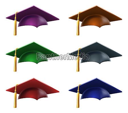graduate hats or caps