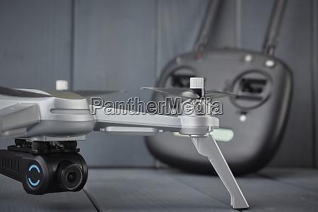 close up of quad engine drone