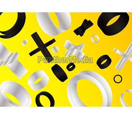 black yellow white vector banner poster