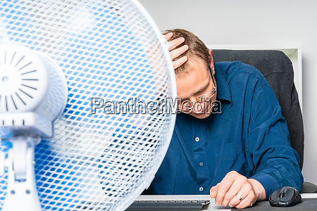 businessman is working in a office