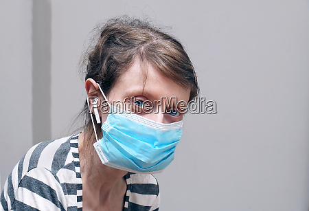pale complexion girl with mask