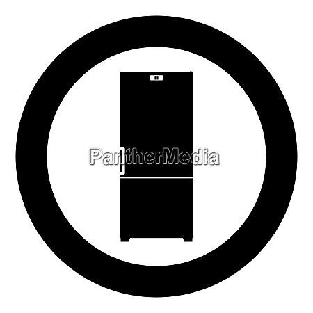 refrigerator icon black color