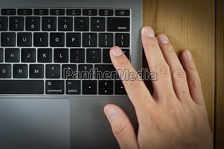 keyboard image of stylish laptop