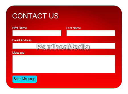 red contact us form or feedback
