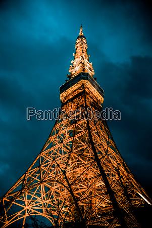 light up tokyo tower night view