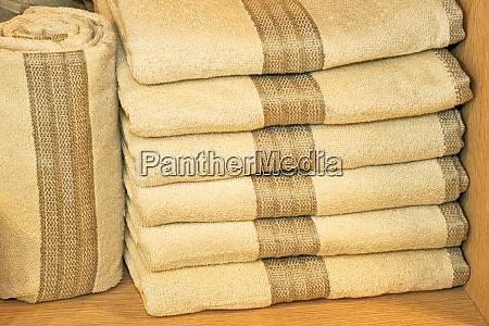 beige towels