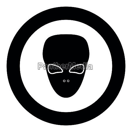 extraterrestrial alien face or head black