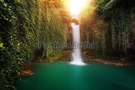 fairy tale waterfall in tobera burgos