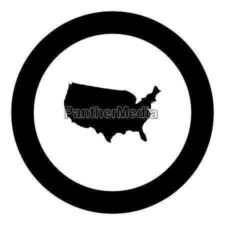 map of america icon black color