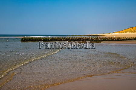 breakwater on the beach of kampen