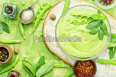 traditional soup with peas