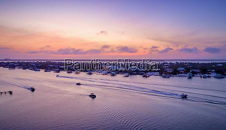 ono island at sunset