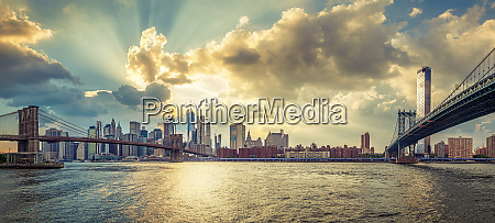 panoramic view at the skyline of