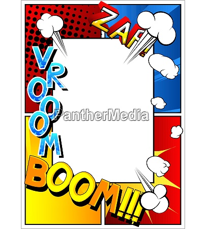 pop-art, style, comic, book, page, template - 28520658