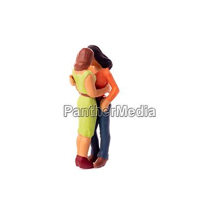 miniature people female couple