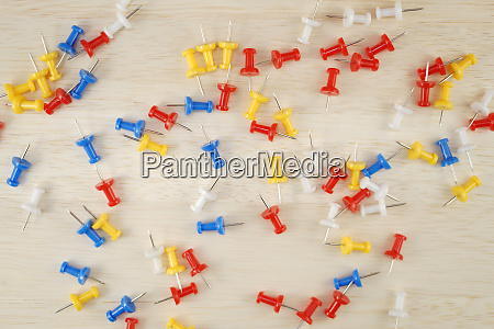 scattered colorful thumbtack