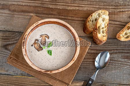 wild mushroom cream soup