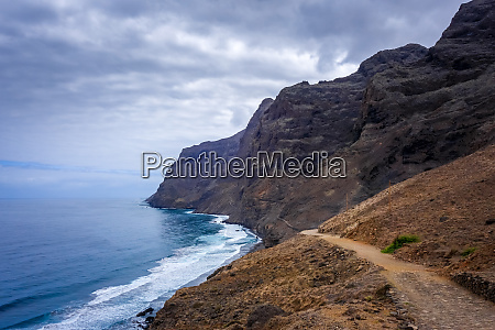 cliffs and ocean view in santo