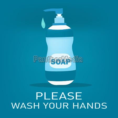 soap bottle or hand sanitizer bottle