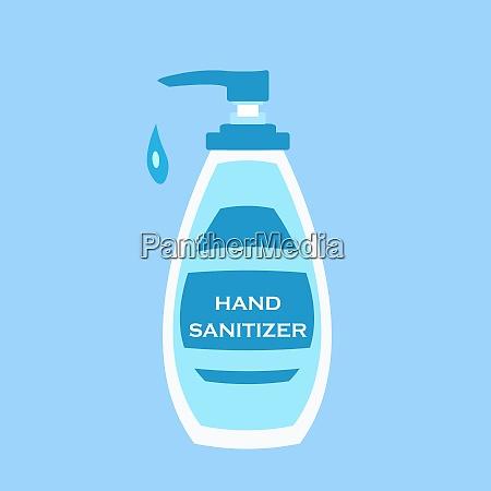 hand sanitizer bottle vector for washing
