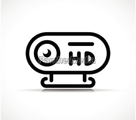 vector webcam icon linear symbol