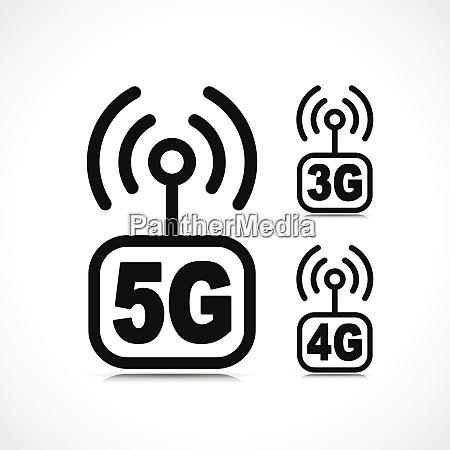 vector internet connection icon symbol