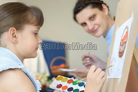teacher looks at how a student