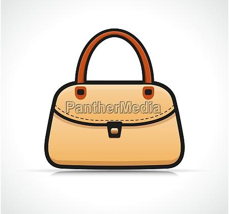 vector isolated handbag design concept