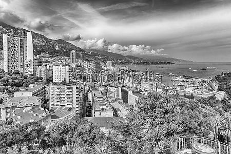 view over la condamine district and