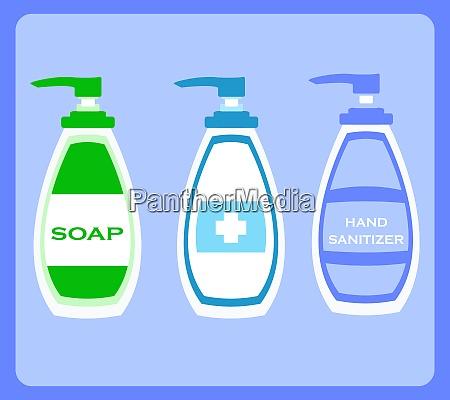 hand sanitizer bottle or soap