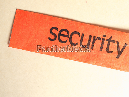 security bag tag