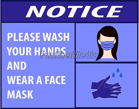 notice wash your hands and