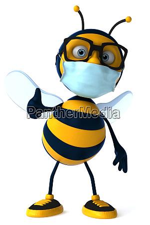 3d illustration of a cartoon bee