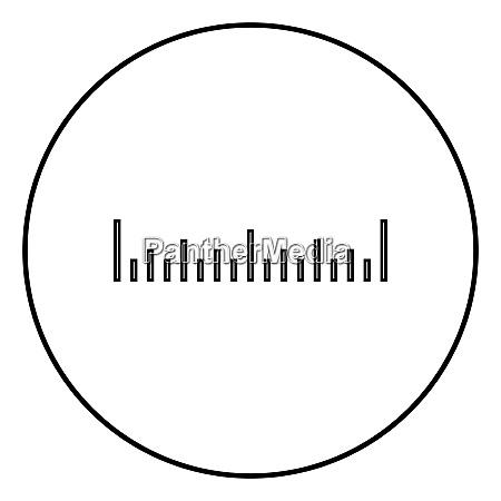 scale ruler icon black color vector